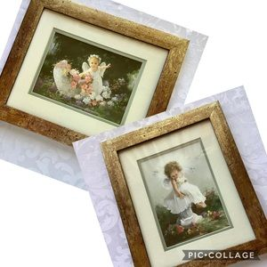 Other - Vintage Baby Angel Framed pictures set of 2